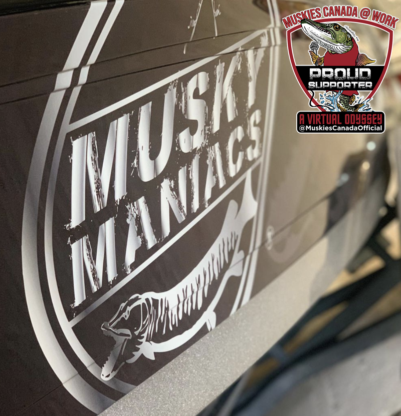 Best Seller! RELEASE THE BEAST Muskie DOUBLE Decal Northern Pike too